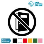 ドアの開放を注意・禁止するマークのカッティング ステッカー シール