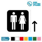 男女トイレ標識 シール カッティング ステッカー