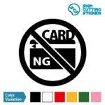 クレジットカードの使用不可マークのカッティング ステッカー シール