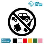 飲酒運転禁止マークのカッティング ステッカー シール