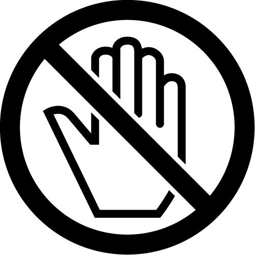 触るな禁止マークのカッティングステッカー