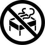 バーベーキューの禁止マークのカッティングステッカーシール