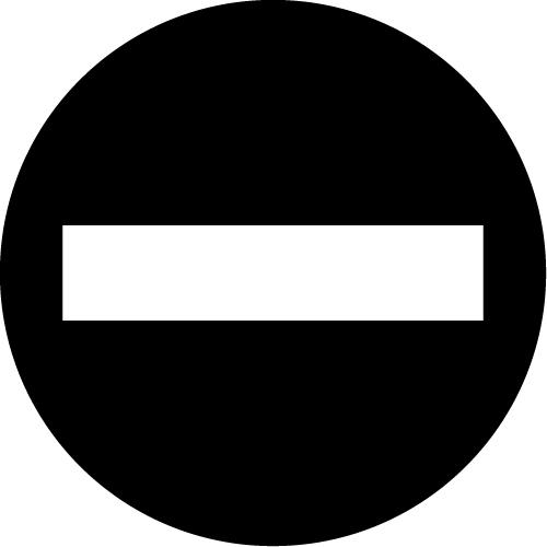 立ち入り禁止標識のカッティングステッカーシール
