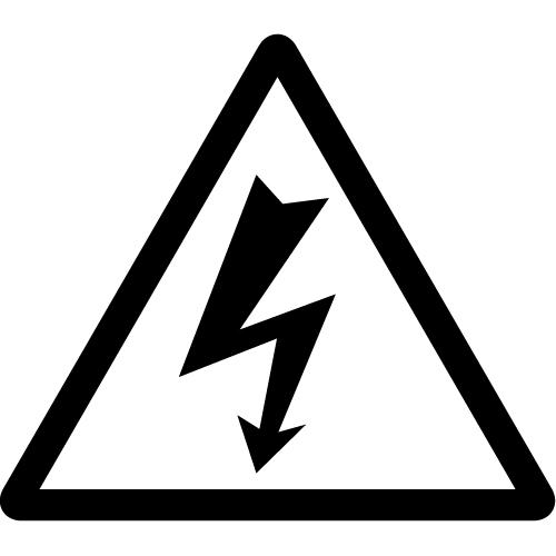 感電注意標識のカッティングステッカーシール