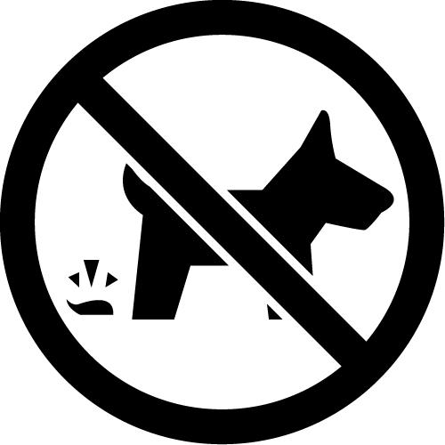 ペットのフンの放置禁止のカッティングステッカーシール