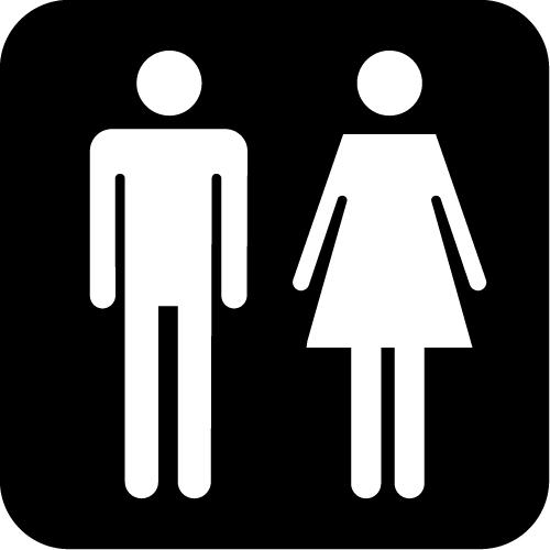 男女トイレ標識マークのカッティングステッカーシール