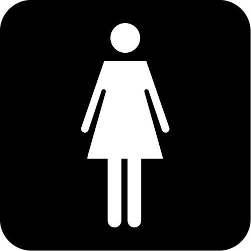 女性トイレ標識マークのカッティングステッカーシール