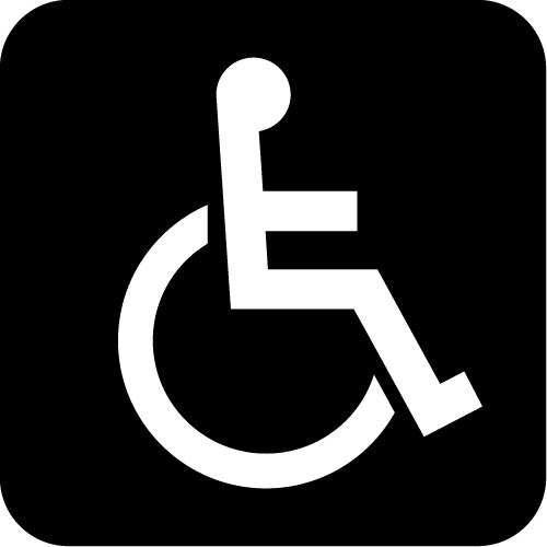 障害者マークのカッティングステッカーシール