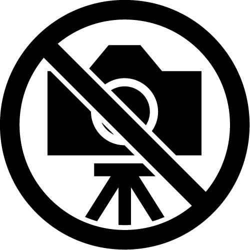 三脚撮影禁止マークのカッティングステッカーシール