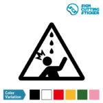 水漏れ・雨漏れ・鳥フン注意マークのカッティングシート ステッカー シール