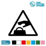 盗難・置引き注意マークのカッティングシート ステッカー シール