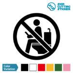 トイレ内のゲーム・読書・長居禁止マークのカッティング ステッカー シール