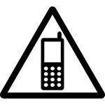 携帯電話使用注意マークマークのカッティングシートステッカー