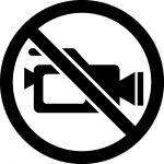 録画禁止マークのカッティングシートステッカー