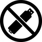 USBメモリー使用禁止マークのカッティングシートステッカー