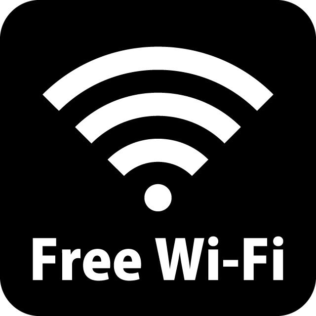 Wi-fi案内マークのカッティングシートステッカー