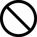 立入禁止・通行止めマークのカッティングシートステッカー
