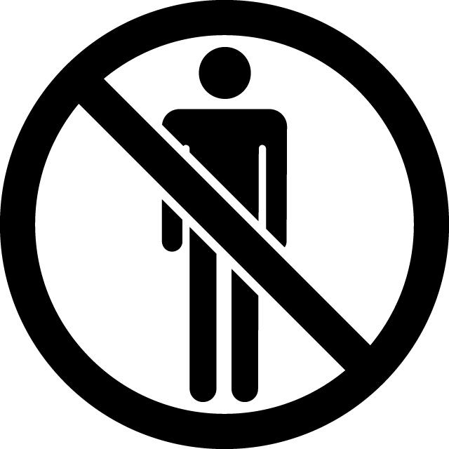立入禁止マークのカッティングシートステッカー