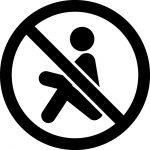 座り込み禁止マークのカッティングシートステッカー