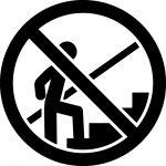 階段の登り禁止マークのカッティングシートステッカー