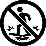 踏付け禁止マークのカッティングシートステッカー