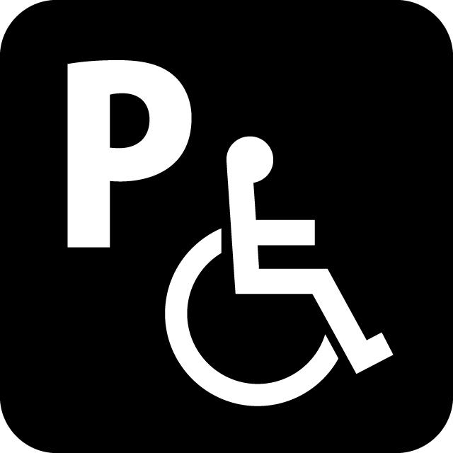 障害者専用駐車場案内マークのカッティングシートステッカー