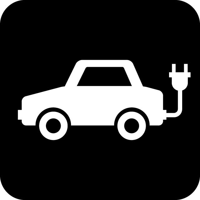 電気自動車案内マークのカッティングシートステッカー