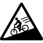 自転車スピード注意マークのカッティングシートステッカー