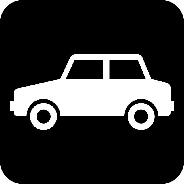 自動車案内マークのカッティングシートステッカー