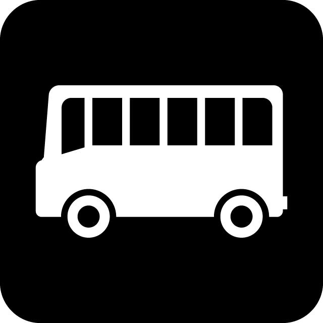 バス案内マークのカッティングシートステッカー