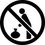 ゴミの置き去り禁止マークのカッティングシートステッカー