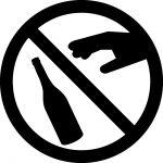 瓶の破棄禁止マークのカッティングシートステッカー