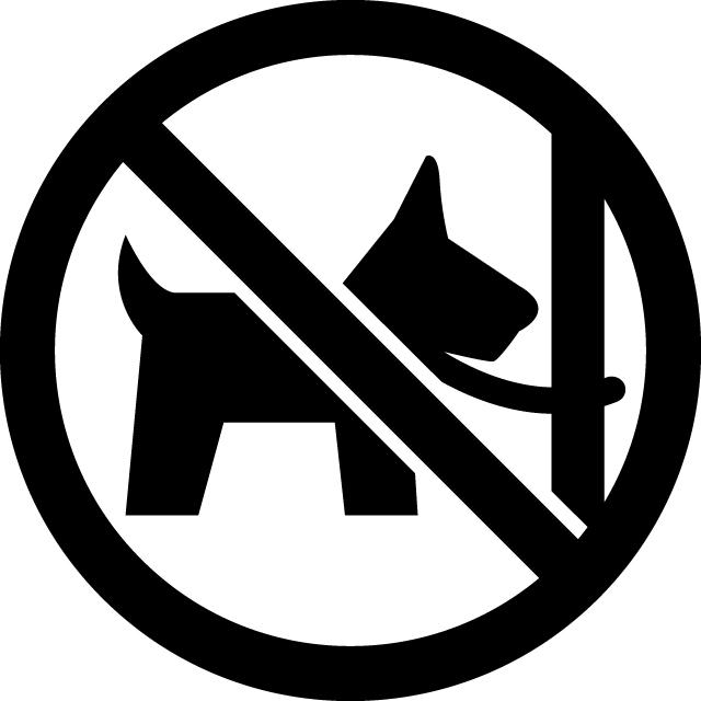ペットの放置禁止マークのカッティングシートステッカー