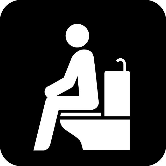 洋式トイレの案内マークのカッティングステッカーシール