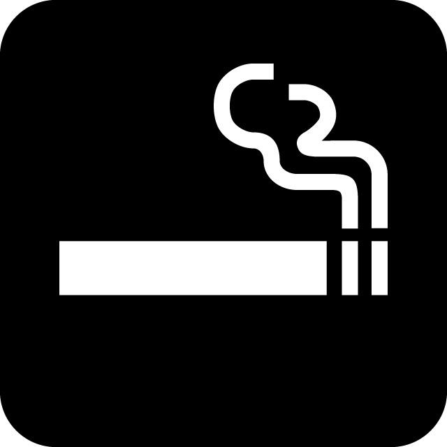 喫煙スペース案内マークのカッティングステッカーシール