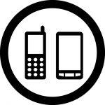 携帯電話使用OKマークのカッティングシートステッカー