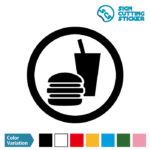 飲食・食事・持ち込みOKマークのカッティング ステッカー シール