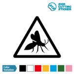 蚊注意 シール カッティング シート ステッカー