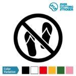 ビーチサンダル禁止 シール カッティングシート ステッカー