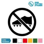 スパイク禁止 シール カッティングシート ステッカー