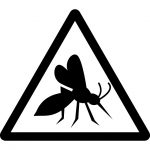 蚊注意マークのカッティングシートステッカー