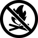焚き火禁止マークのカッティングシートステッカー