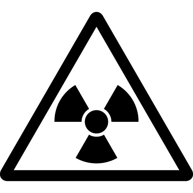 放射能のハザードシンボル注意マークのカッティングシートステッカー