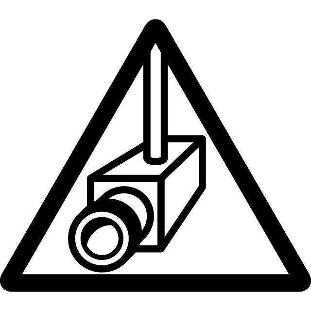 防犯カメラの注意マークのカッティングシートステッカー