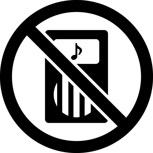 インターホン禁止マークのカッティングシートステッカー