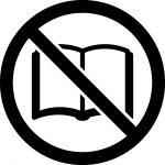読書禁止マークのカッティングシートステッカー