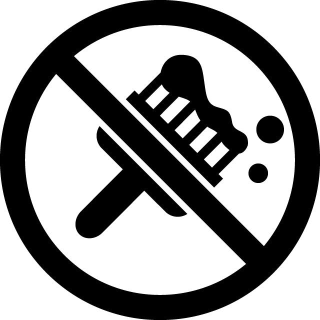 塗装禁止マークのカッティングシートステッカー
