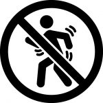 ダンス禁止マークのカッティングシートステッカー