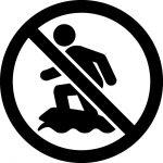 サーフィン禁止マークのカッティングシートステッカー