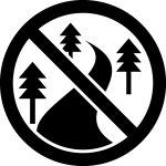 林道進入禁止マークのカッティングシートステッカー